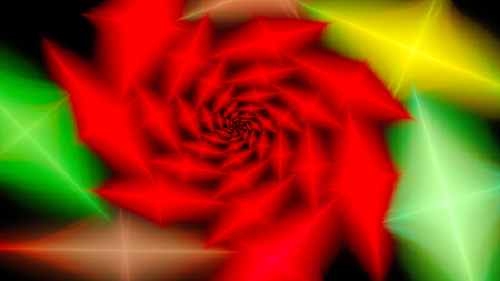 Spiral pattern. Rhombus. Rose flower. 3D surreal illustration. Sacred geometry. Mysterious psychedelic relaxation pattern. Fractal abstract texture. Digital artwork graphic astrology magic