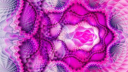 Scales. Patterns on fabric. Openwork crochet. 3D surreal illustration. Sacred geometry. Mysterious psychedelic relaxation pattern. Fractal abstract texture. Digital artwork graphic astrology magic