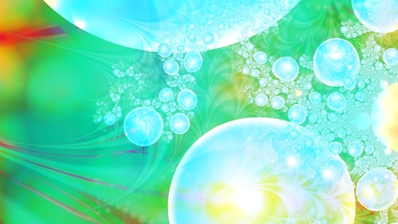 Magic air bubbles. Microcosm. Cluster of planets. 3D surreal illustration. Sacred geometry. Mysterious psychedelic relaxation pattern. Fractal abstract texture. Digital artwork graphic astrology magic Stock Photo