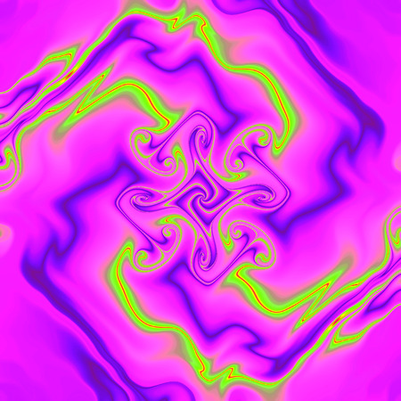 Lightning. Pattern on scarf. Strokes. Neon glow. 3D surreal illustration. Sacred geometry. Mysterious psychedelic relaxation pattern. Fractal abstract texture. Digital artwork graphic astrology magic