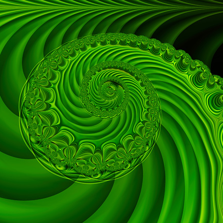 Endless spiral. 3D surreal illustration. Sacred geometry. Mysterious psychedelic relaxation pattern. Fractal abstract texture. Digital artwork graphic astrology magic