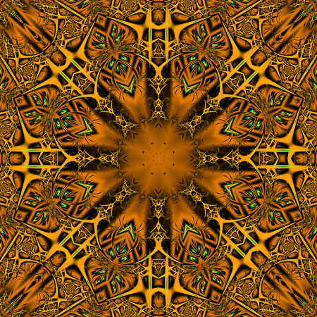 Mandala. 3D surreal illustration. Sacred geometry. Mysterious psychedelic relaxation pattern. Fractal abstract texture. Digital artwork graphic astrology magic Stock Illustration - 101032017