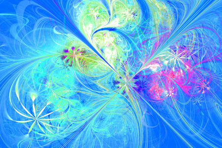 Flower Symphony.3d computer generated fractal artwork for creative art, design and entertainment