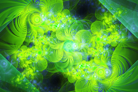 3d computer generated fractal artwork for creative art, design and entertainment Stock Photo