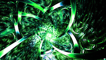 Abstract fractal art background space geometry. Background: Imagens