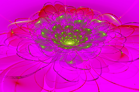 colorful flower, 3d computer generated fractal artwork for creative art, design and entertainment