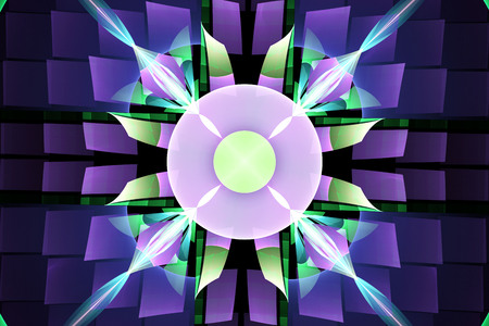 Abstract fantasy ornament pattern. Creative fractal design for greeting cards or t-shirts