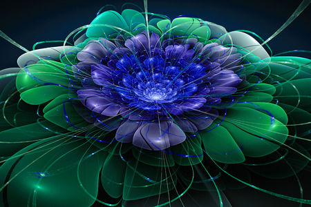 Exotic flower.colorful flower, 3d computer generated fractal artwork for creative art, design and entertainment Imagens