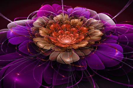 Exotic flower.colorful flower, 3d computer generated fractal artwork for creative art, design and entertainment