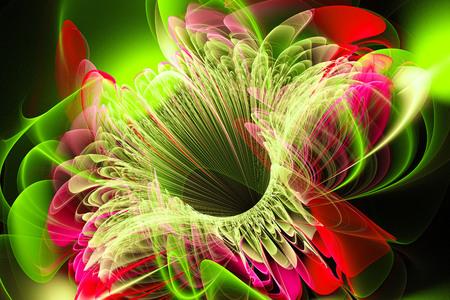 Bright flower.Abstract painting multicolor texture.Modern multicolor futuristic dynamic pattern.Fractal 3d artwork creative graphic design Banco de Imagens
