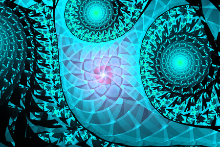 3D surreal illustration. Sacred geometry. Mysterious relaxation pattern. Fractal abstract texture. Digital artwork graphic astrology magic
