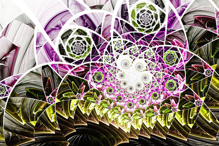 Abstract fractal art background illustration space geometry. Background consists fractal multicolor texture and suitable for use in projects imagination, creativity and design. Banco de Imagens