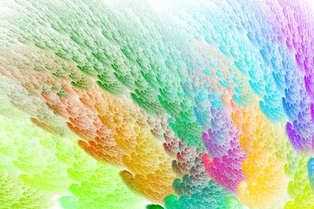 3D Abstract fractal background. Design element for flyer, brochure, web, advertisements, and other graphic designer works. Digital collage. Raster clip art Banco de Imagens - 126121620