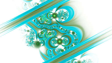3D Abstract fractal background. Design element for flyer, brochure, web, advertisements, and other graphic designer works. Digital collage. Raster clip art