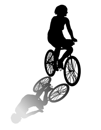 Woman on bicycle  Stock Vector - 3637252