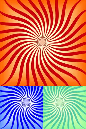 Retro background color in three setsVector Vector