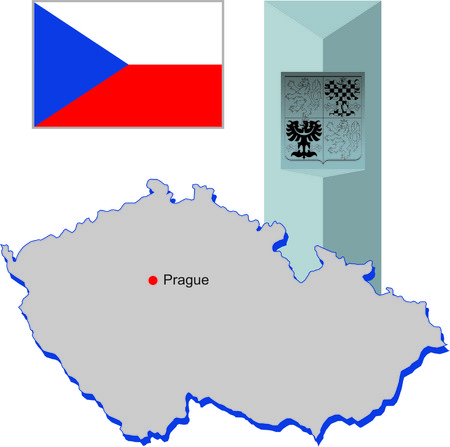 czech republic: Czech Republic Illustration