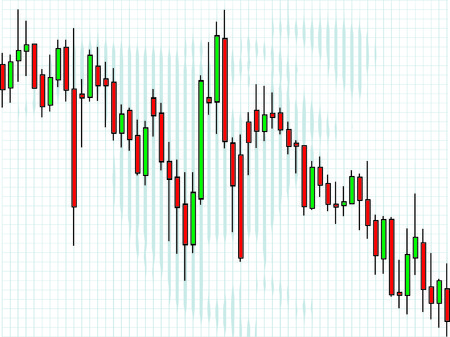 exchange loss: Business charts, Candle Illustration