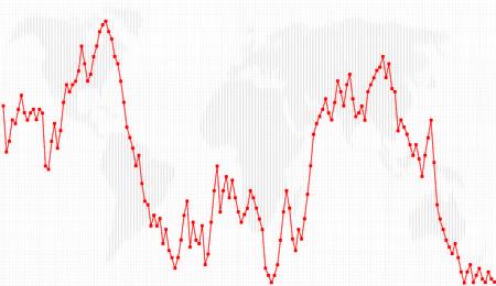 Business charts, Line-Dot Chart Stock Vector - 4287582