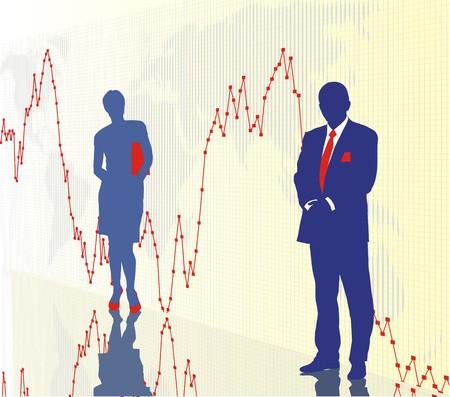 World stock exchange market 3 Stock Vector - 4357017