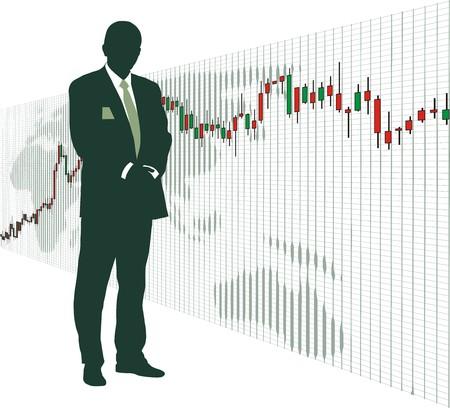 World stock exchange market 4 Stock Vector - 4357012