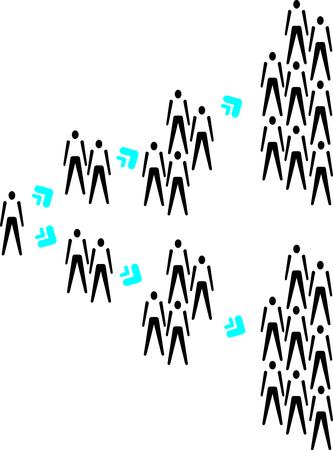 multiplying: People multiplying