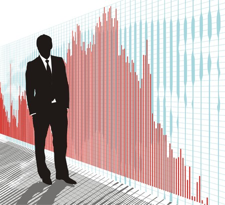 World stock market, exchange business, DAX, Dow Jones  Illustration