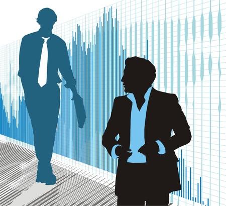 black lady talking: Mundo burs�til, el intercambio de negocios, DAX, Dow Jones Vectores
