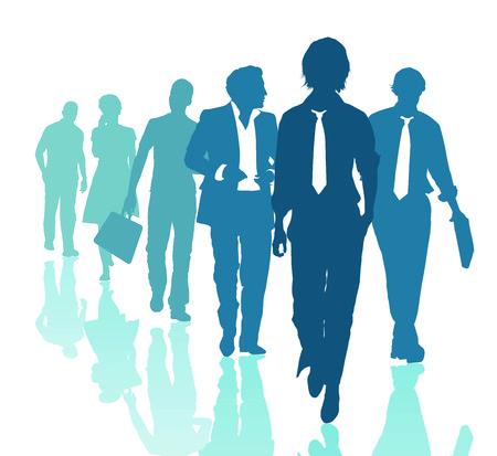 diverse business team: Teamwork