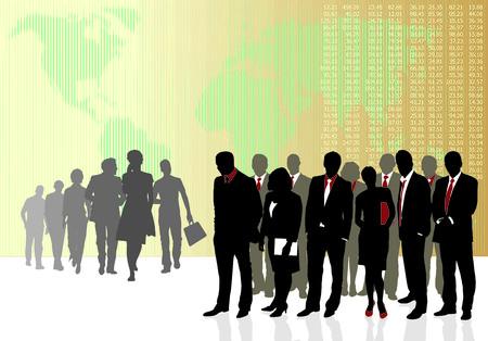 Business teams Stock Vector - 4520790