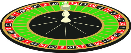 Vector illustriation casino roulette on white background Vector