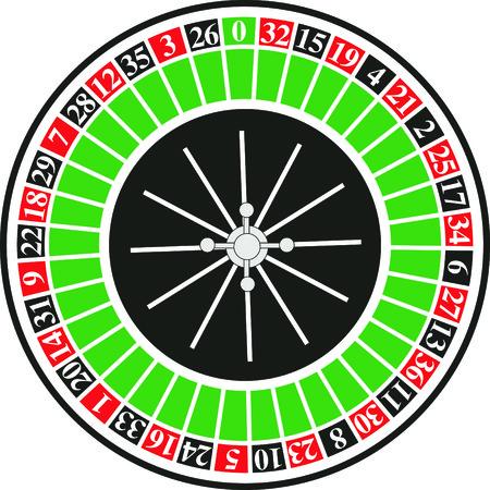 losing money: Vector illustriation casino roulette on white background