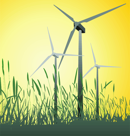 Progressive, alternative, green power source, vector illustration