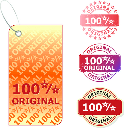 Set of colorful vector sale stickers stamp and labels Stock Vector - 4923657