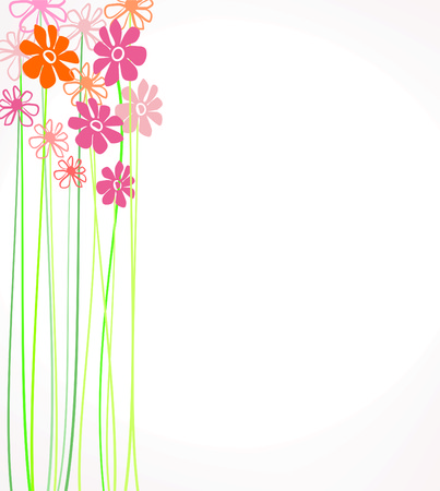 composition with flowers creative design with flowers  Vector