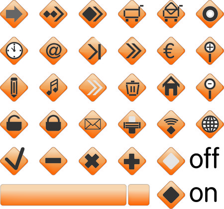 Vector images, Web Buttons are scalable to any size Stock Vector - 5049259