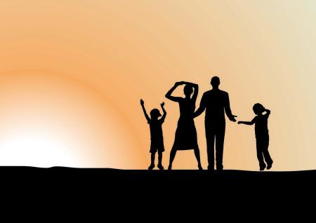 genitore figlio: Famiglia felice