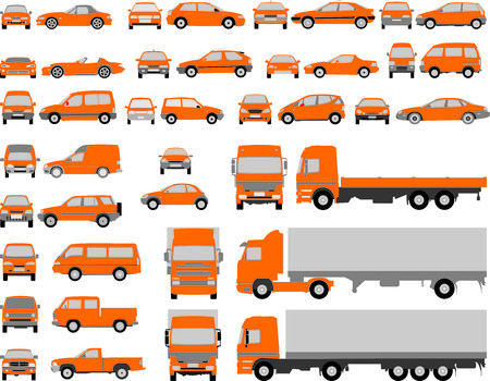 Vehicle shapes, car isolated silhouette on white background Vector