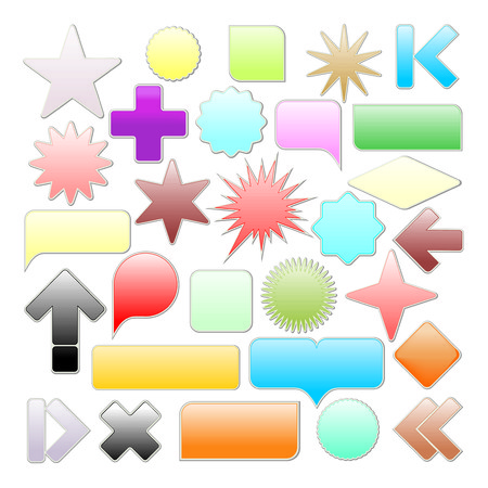 Web elements collection. Color vector illustration web buttons. Vector