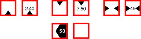 restrictive: Restrictive signs for river navigation, vector illustration Illustration