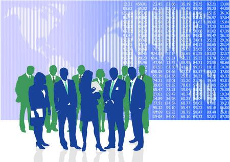 entrepreneurs: Vector illustration of World business people and entrepreneurs
