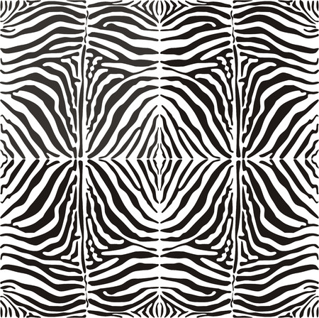 Seamless  image of a zebra striped pattern, black and white illustration, suitable for printing and cutting plotter Stock Vector - 6602194