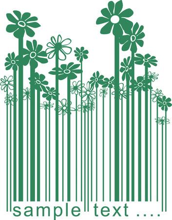 illustration barcode changer les fleurs de couleur.