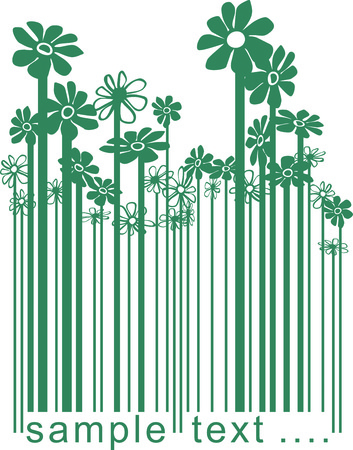 color illustration barcode changing the flowers Stock Vector - 7158388