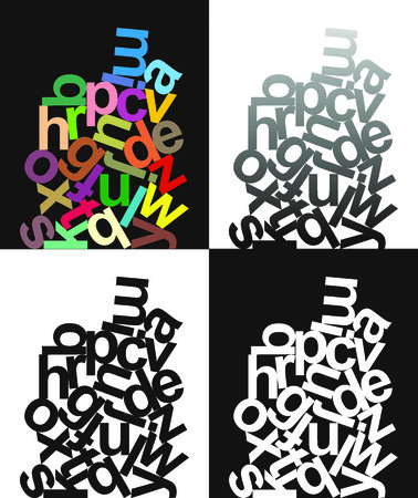 ration of small letters of the alphabet Stock Vector - 7800284