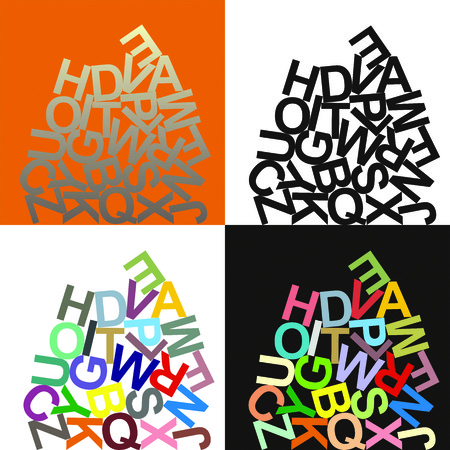 ration of large letters of the alphabet Stock Vector - 7800288