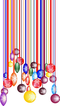 vector color illustration barcode changing the christmas ball Vector
