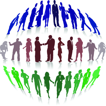 illustration of characters seen people fish eye Stock Vector - 8688880