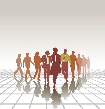 Group of young business people Teamwork Business team  Illustration