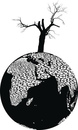 Illustration of full-scale global environmental disaster Imagens - 10445648